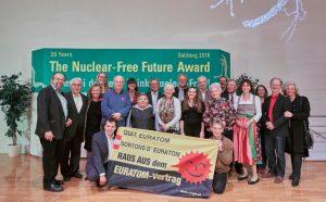 Nuclear Free Future Award, NFFA, Salzburg, Atomfrei, Euratom, Leopold Kohr Akademie, Konstantin Wecker, Jo Barnikel, Preisverleihung