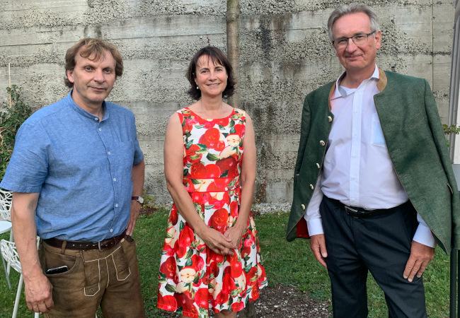 v. l. n. r.: Christian Vötter, Susanna Vötter-Dankl, Günther Nowotny