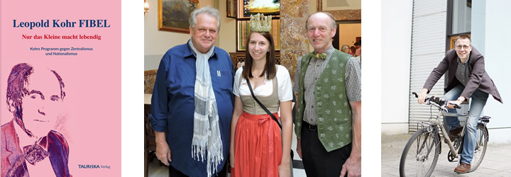 Leopold Kohr Preis, Ehrenpreis, Bio Heu Region Trumer Seenland; Niko Paech, Leopold Kohr Fibel, neues Buch, aktuell, Leopold Kohr Akademie, Tauriska